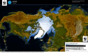 Arktisches Eis Stand 2012